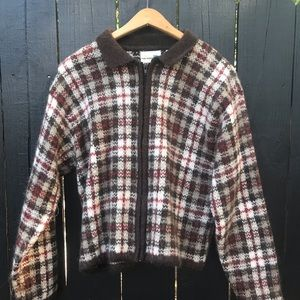 🤩🤩Vintage plaid Mohair sweater🤩🤩